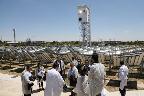 Demonstration of the solar themochemical research facility in operation